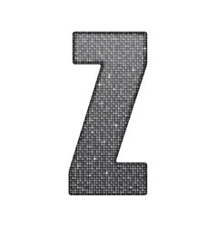 Silver sequins sings sequins alphabet eps 10 vector