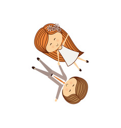 lovely couple cartoon vector image