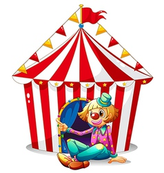 Circus clown tent vector