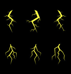 Lightning symbol set vector