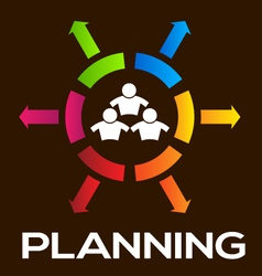 Planning Team People Infographic vector image