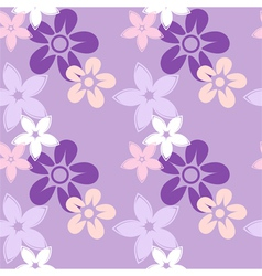Floral silhouettes pattern lilac vector