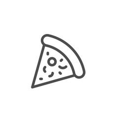 Pizza line icon vector