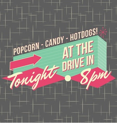1950s Drive-In Style Logo Design vector image