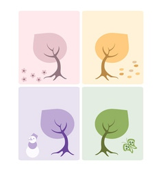 Set of 4 cards vector