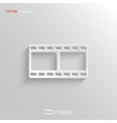 Film icon - white app button vector