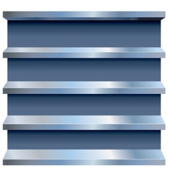 Metal Shelves vector image