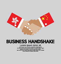 Business handshake hongkong and china vector