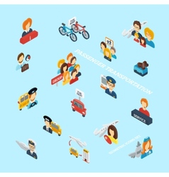 Passenger transportation isometric vector