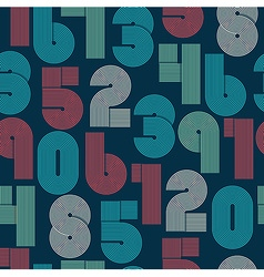 Seamless pattern of numbers vector