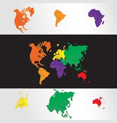 World map with globes vector