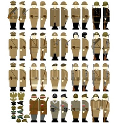 Army uniforms in poland 1939-45 vector