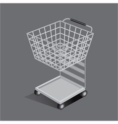Shopping set cart car small vector
