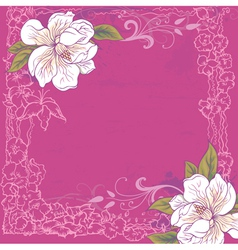 Background with magnolia vector