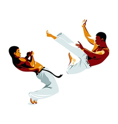 Capoeira fighters vector