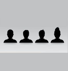 avatar profile icon head silhouette vector image vector image