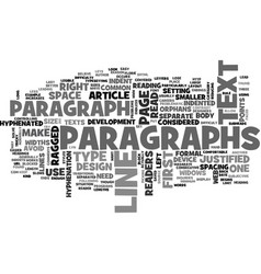 Back to paragraphs text word cloud concept vector