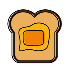 Bread with butter icon vector