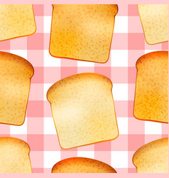 Bright tasty toasts breakfast seamless pattern vector