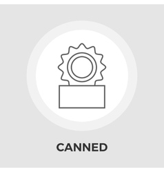 Canned Flat Icon vector image vector image