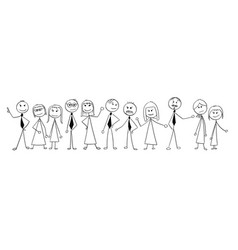 cartoon of crowd of business people isolated vector image