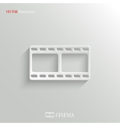 Film icon - white app button vector image