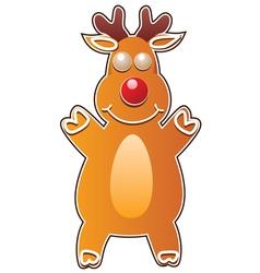 gingerbread cookie - rudolph deer vector image vector image