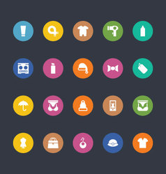 Glyphs colored icons 43 vector