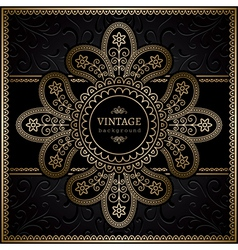 Gold ornamental frame vector image