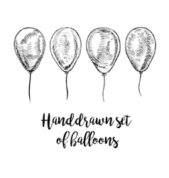 Hand drawn set of balloons vector image vector image