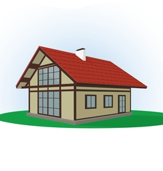 icon of house on a light background vector image vector image