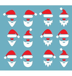 icon set of santa claus vector image vector image