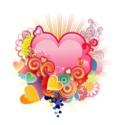 love heart valentines or wedding the layers are vector image