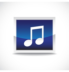 Music sign button vector image vector image