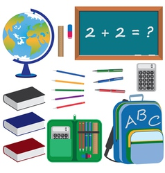 objects for education vector image vector image