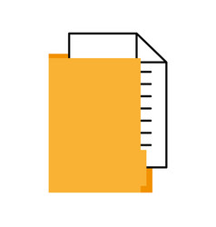 Office folder file document paper information vector