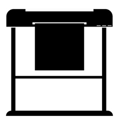 Printer icon simple style vector image