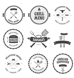 Restaurant menu vintage design elements set vector