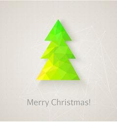Retro christmas tree made of triangles vector