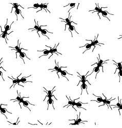 Seamless ants background vector
