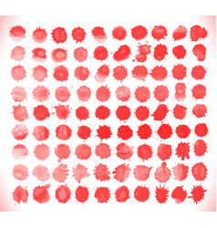 set of blood drops splatter vector image vector image