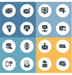 set of simple mail icons vector image