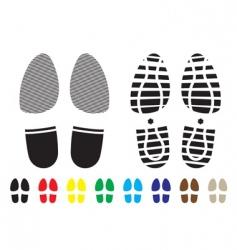 shoe pattern vector image vector image