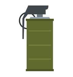 Smoke grenade icon isolated vector
