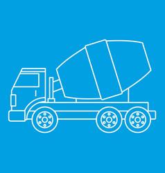 Truck concrete mixer icon outline vector
