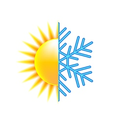 Winter and summer icon isolated on white vector image vector image