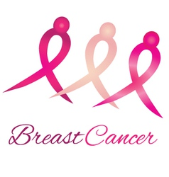 Breast cancer logo awareness ribbons vector image