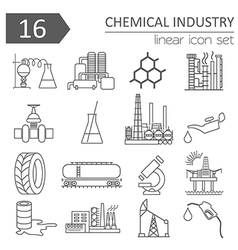 Chemical industry icon set thin line icon design vector