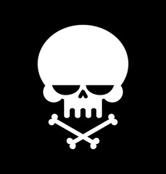 Skull and crossbones isolated skeleton head sign vector