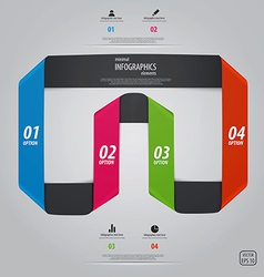 infographics design 5 vector image